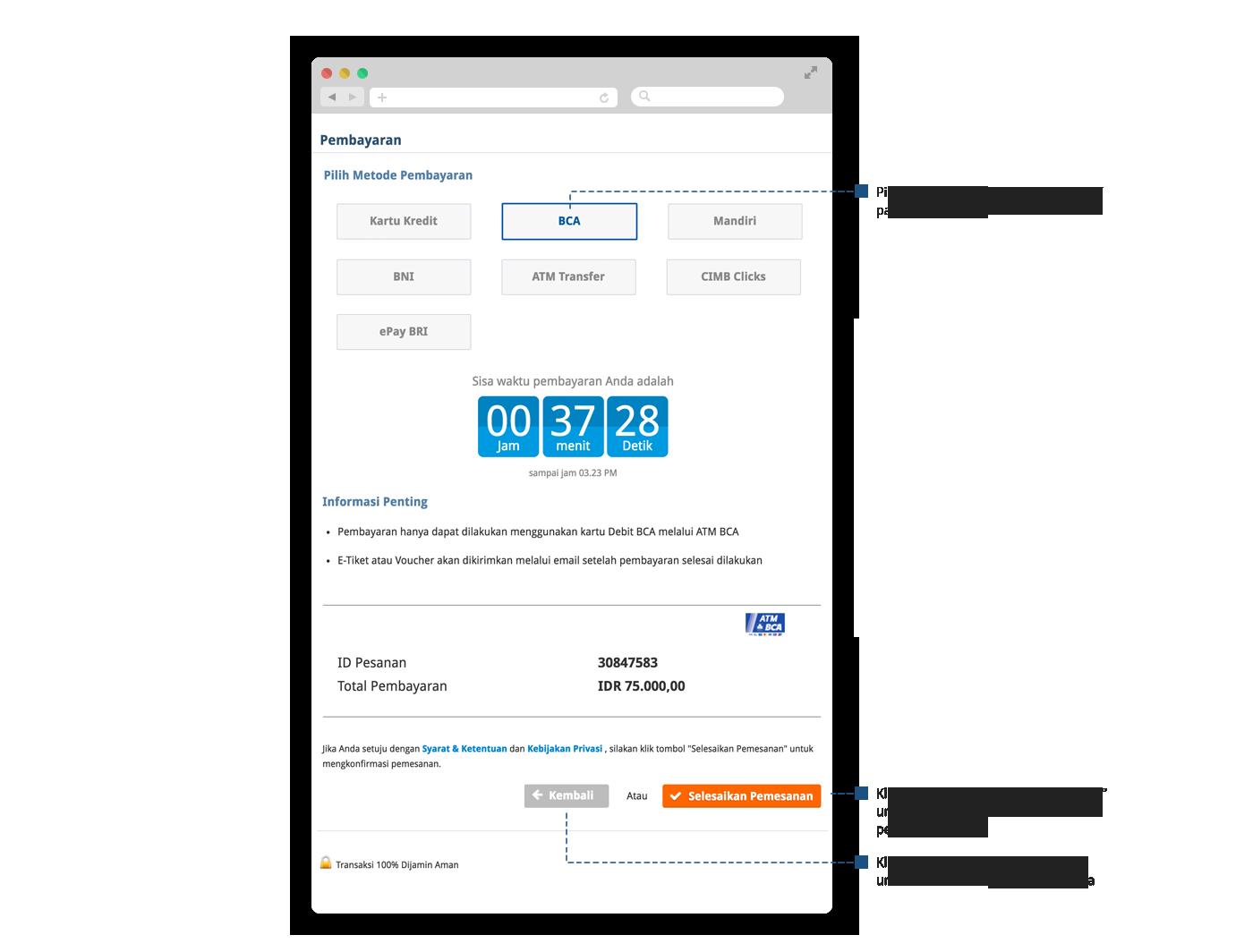 cara pesan tiket pesawat online