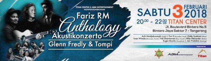 harga tiket Akustikonzerto Fariz RM 2018