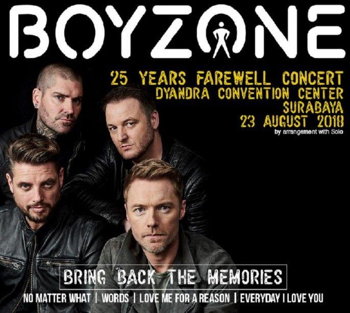 harga tiket Boyzone 25 Years Farewell Concert - Live In Surabaya 2018