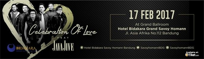 harga tiket Celebration Of Love With Java Jive 2017