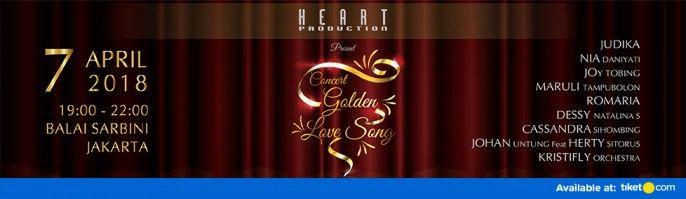 harga tiket Concert Golden Love Song 2018