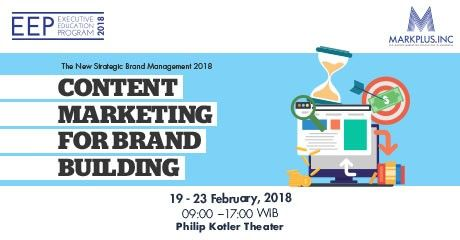 harga tiket CONTENT MARKETING FOR BRAND BUILDING