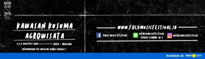 harga tiket FOLK MUSIC FESTIVAL 2018