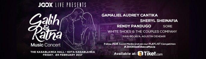 harga tiket Galih & Ratna Music Concert 2017