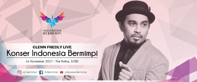 harga tiket Glenn Fredly Live - Konser Indonesia Bermimpi 2017