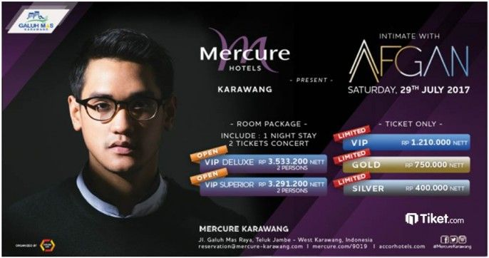 harga tiket Intimate with Afgan