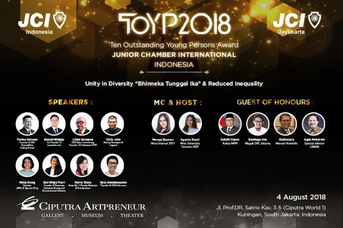 harga tiket JCI Indonesia Ten Outstanding Person (TOYP) Award 2018