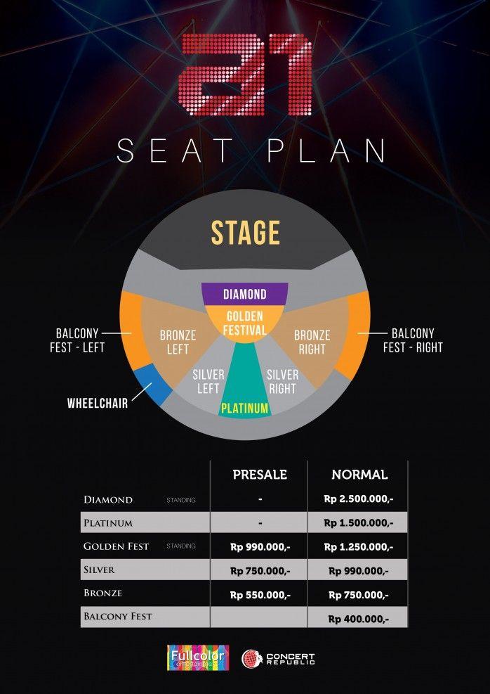 Lokasi Layout A1 20th Anniversary Reunion Tour Live in Jakarta