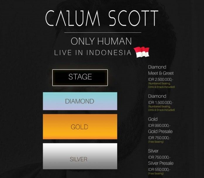 Lokasi Layout Calum Scott : Only Human Live In Indonesia 2018