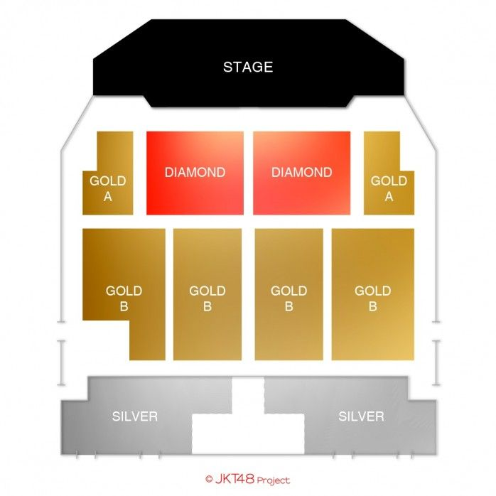 Lokasi Layout JKT48 Melody Graduation Concert Jakarta 2018 - Dirimu Melody