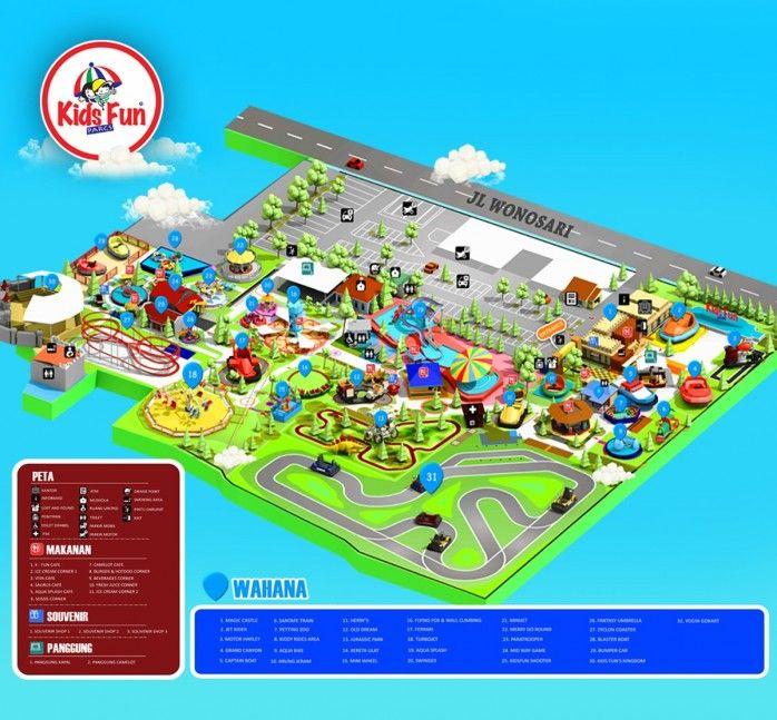 Lokasi Layout Kids Fun Parcs & Aqua Splash Yogyakarta