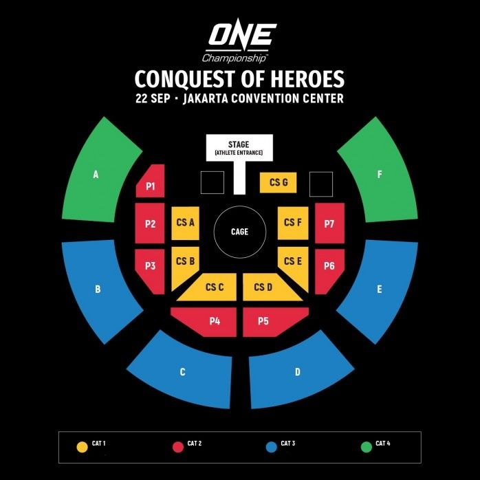 Lokasi Layout One Championship Conquest Of Heroes 2018