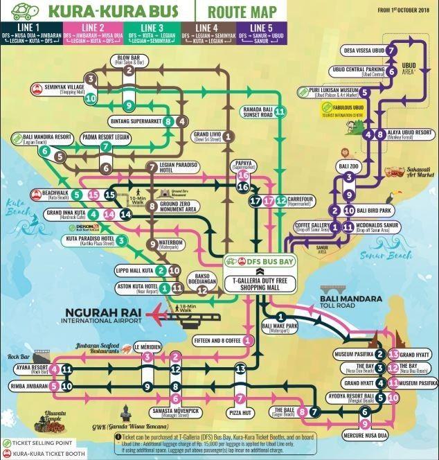 Lokasi Layout Public Shuttle Bus Kura Kura Bali