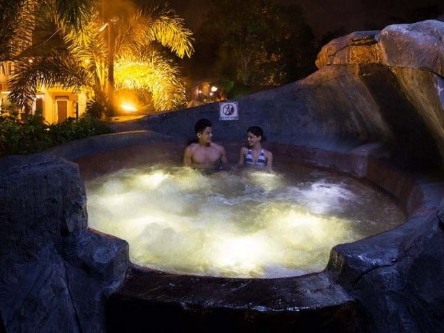 Lost World Hot Springs and Spa by Night Admission Ticket