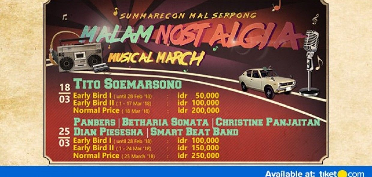 Malam Nostalgia Musical March 2018