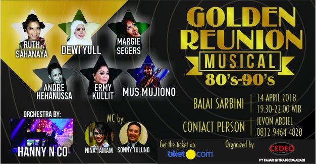 harga tiket Music Concert Golden Reunion 80's to 90's Jakarta 2018