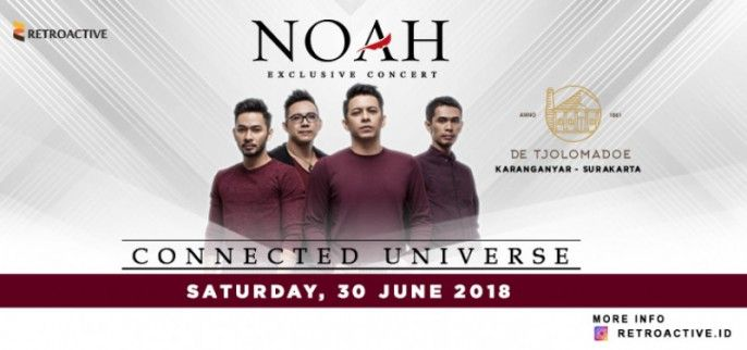 harga tiket NOAH Exclusive Concert Connected Universe 2018