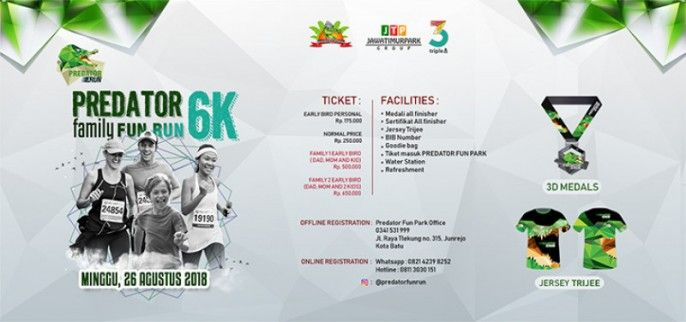 harga tiket PREDATOR RUN FUN 2018