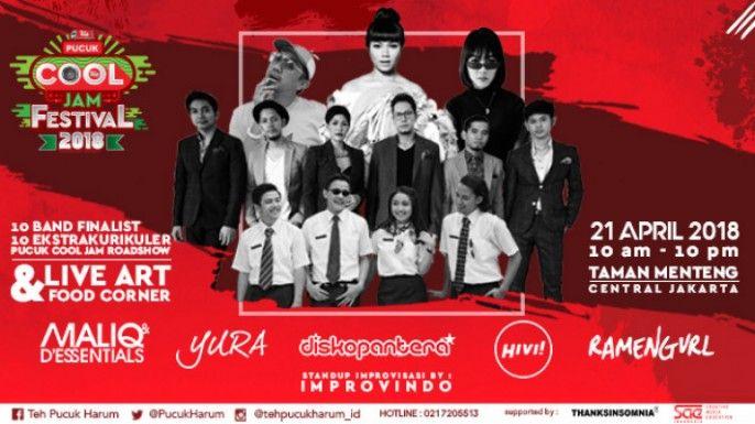 harga tiket Pucuk Cool Jam Festival 2018