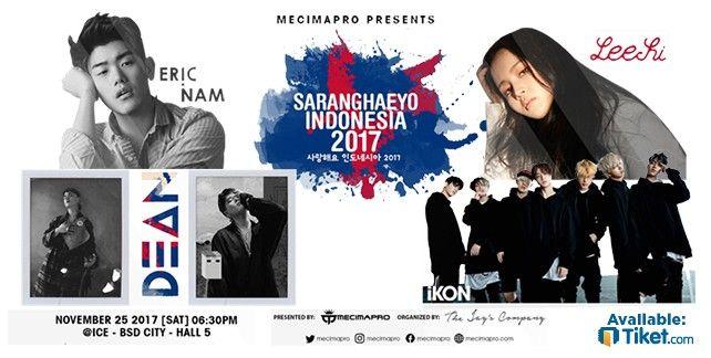 harga tiket SARANGHAEYO INDONESIA 2017