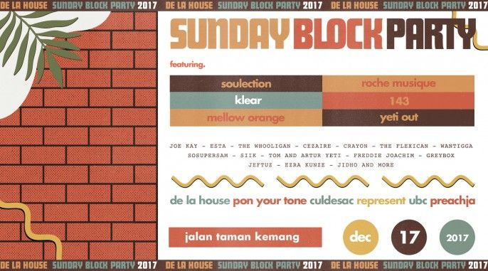 harga tiket Sunday Block Party 2017