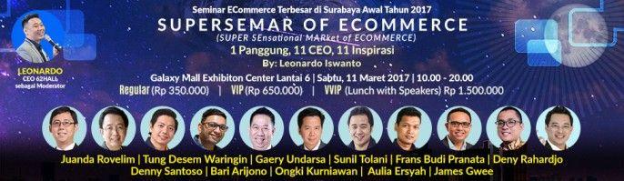 harga tiket Super Sensational Market of E-Commerce (SUPERSEMAR)
