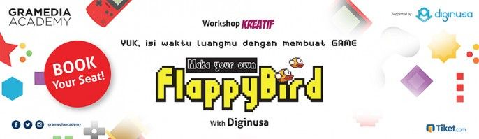 harga tiket Workshop KREATIF - Make Your Own Flappybird 2017